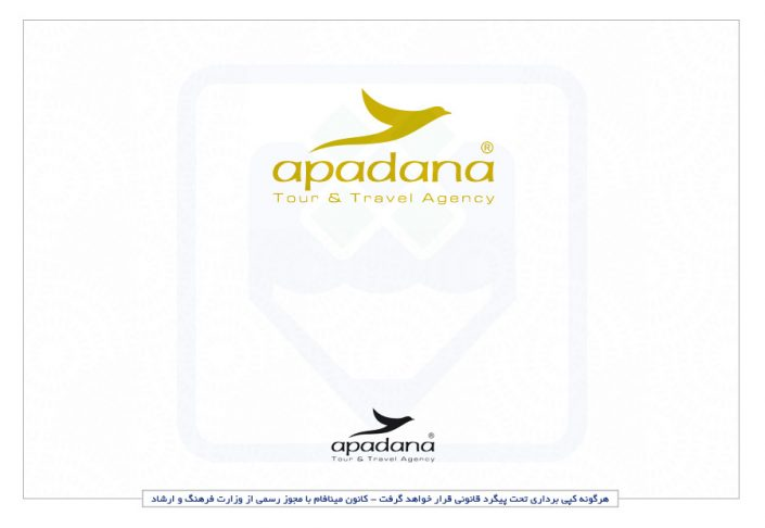 طراحی لوگو حرفه ای آژانس هواپیمایی آپادانا