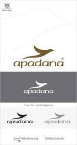طراحی لوگو آژانس هواپیمایی آپادانا