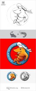 طراحی لوگو غذای دریایی سیفود