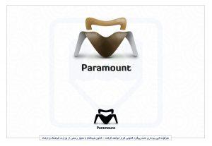 نمونه طراحی حرفه ای لوگو پارامونت مبلمان چرم
